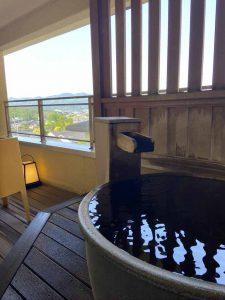 客室露天風呂からの眺め
